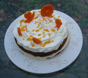 persimmons 02 Persimmon Cake with Apricot Mousse