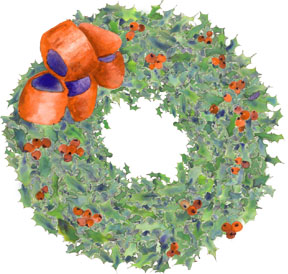 Ptp holly wreath Gift from the Kitchen #1   Blueberry Lemon Marmalade
