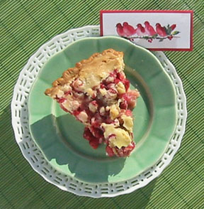 D cranberry pie 01 Cranberry Pie   Summer Flavor in the Winter