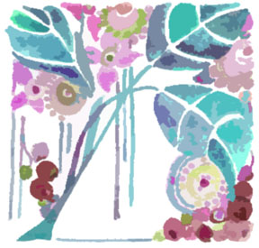 Tile Blue 01 c egbert Cranberry Cannoli Puffs   A Contest Entry