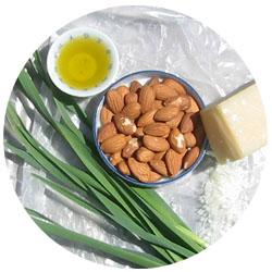 CSA garlic scallion pesto CSA   Garlic Scallion Almond Pesto