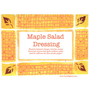 Maple Salad Label Maple Salad Label