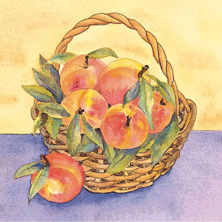 Peach Basket c egbert Peach & Tomato Salad