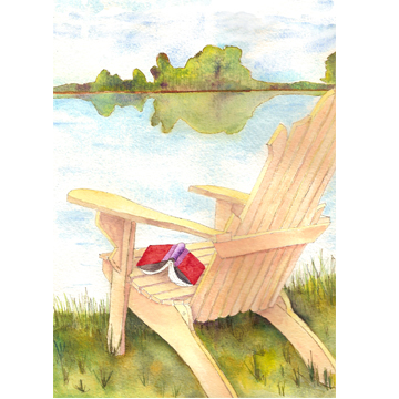 adirondack chair Free Summer Note Card