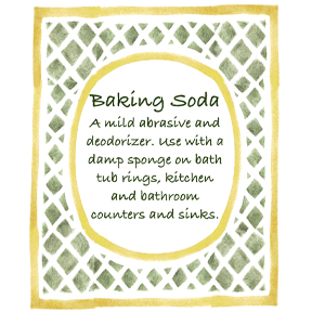 baking soda label Homemade, Green Cleaning Supplies