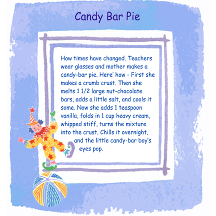 candy bar pie sm Candy Bar Pie   Hint from the 50s