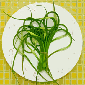 garlic scape c egbert blg Hello Garlic   Bon Jour Ail