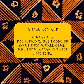 ginger ale label Non Alcoholic Party Drinks & Infused Waters