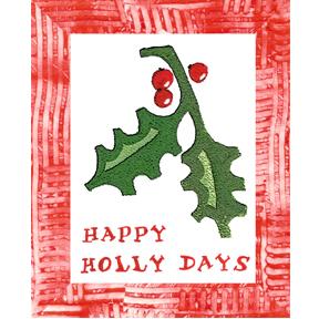 holly card Happy Holly Day  Free Card