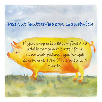 pbb sand c egbert Recipe from the 50s   Peanut Butter & Bacon Sandwich