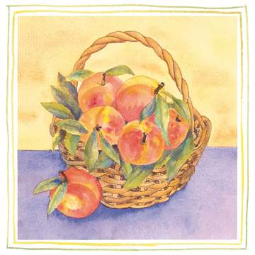 peach basket c egbert Sour Cream Peach Pie