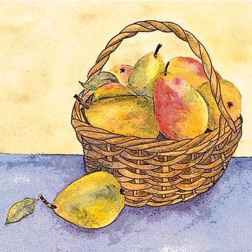 pear basket c egbert Chocolate Pear Cake to Celebrate Mosque