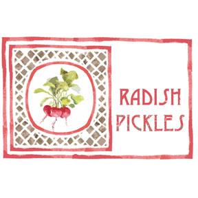 radish pickle label PIN   Print it Now