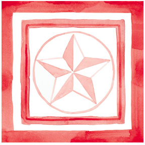red star PIN   Print it Now