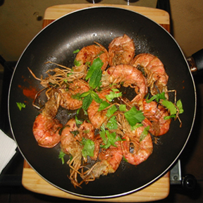 soe prawns Burmese Orange Salad   Sicilian Serendipity