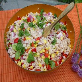 v barley salad Q Hello Garlic   Bon Jour Ail